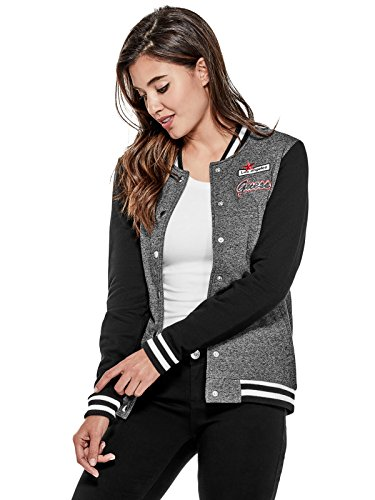 GUESS Factory Women's Fleecie Patch Varsity Jacket