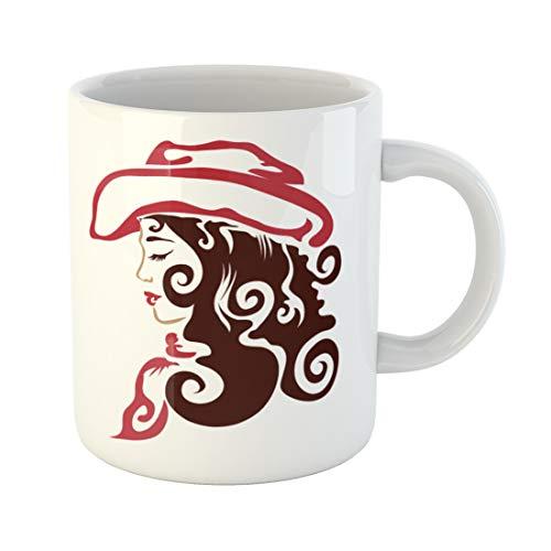 Emvency Funny Coffee Mug Cowboy Cowgirl Western Tribal Hat Original 11 Oz Ceramic Coffee Mug Tea Cup Best Gift Or -