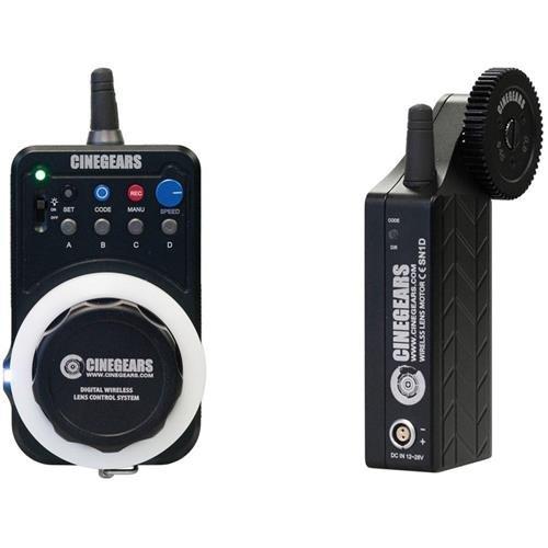 Cinegears Single Axis Wireless Follow Focus Express Standard Kit, Includes Wireless Express Hand Controller, Lens Control Motor, Water Proof Case by Cinegears