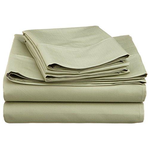 Cotton Blend 600 Thread Count , Deep Pocket, Soft, Wrinkle Resistant 4-Piece California King Bed Sheet Set, Solid Sage