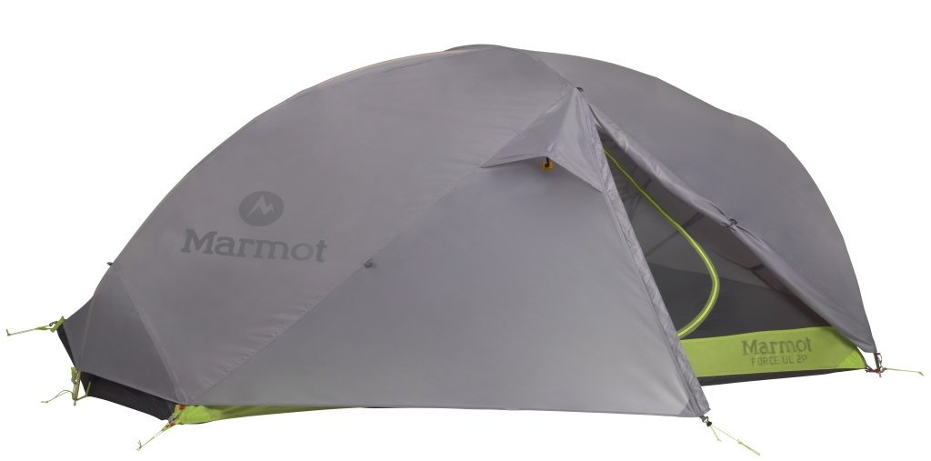 Marmot Force UL 2P Tent Steel/Green Lime 2016 Kuppelzelt