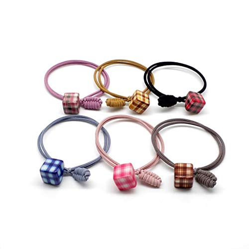 Hair Ring, Lattice Square Ladies Tie Hair Knot Knot Rope, 18 Packs