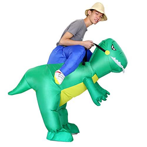 (AOFU Inflatable Dinosaur Riding Costume丨Halloween Costume丨Blow Up Costume丨Adult Inflatable)