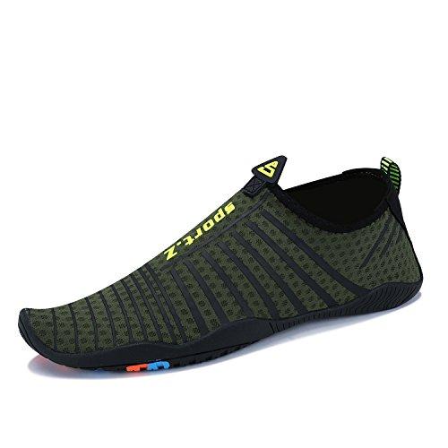grün Schwimmschuhe Sport Aqua Schuhe Tauchen Herren QZBAOSHU Strandschuhe Damen Surf Walking 4 Wasserschuhe wOxXqgn7B