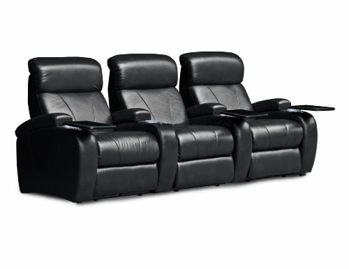 BarcaLounger Showtime II RAF Manual Home Theater Recliner - Stagecoach Black (Bonded)