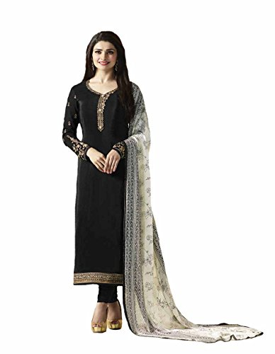 Ready Made New Designer Indian/Pakistani Fashion Salwar Kameez For Women (Black, LARGE-42)