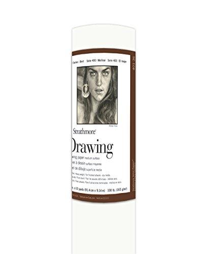 - Strathmore (401-36 400 Series Drawing Roll, 100 lb. Medium Surface, 36