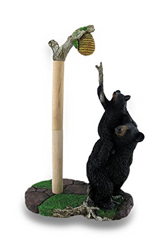 Sweet Tooth Bears Cast Resin Paper Towel Holder Bear Paper Towel Holder
