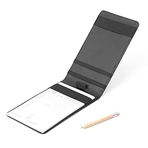 Delta-shop Professional Golf Scorecard Holder Yardage Book Holder Multi-Color (Black)