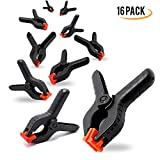 EACHPOLE 16 Pack 3.5'' Home Improvement & Photo Studio Spring Clamps Premium Nylon 1.5'' Jaw Opening, APL1983