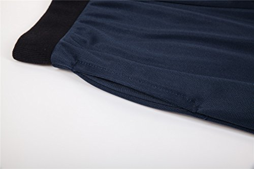 UNACOO Boys Active Basic Jogger Breathable Fleece Lined Pants (Navy, XL(11-12T)) by UNACOO (Image #3)