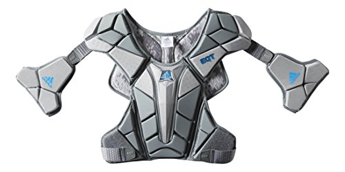 (adidas Performance EQT Berserker Lacrosse Chest/Shoulder Pad, Onyx Grey, Medium)