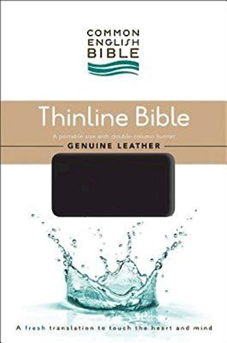 Leather Guy Cowhide (CEB Common English Thinline Bible, Genuine Leather Cowhide Black)