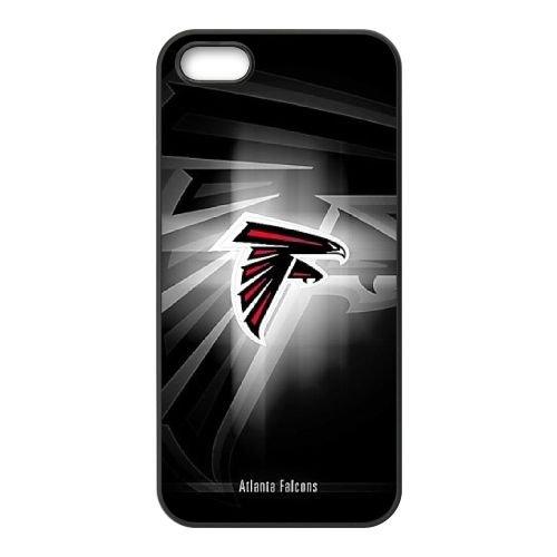 Atlanta Falcons Team Logo coque iPhone 4 4S Housse téléphone Noir de couverture de cas coque EBDOBCKCO14373
