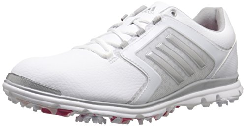 adidas Women's adistar Tour 6-spike Golf Shoe, Ftwr White/Matte Silver/Raspberry Rose-tmag - 7 B(M) US
