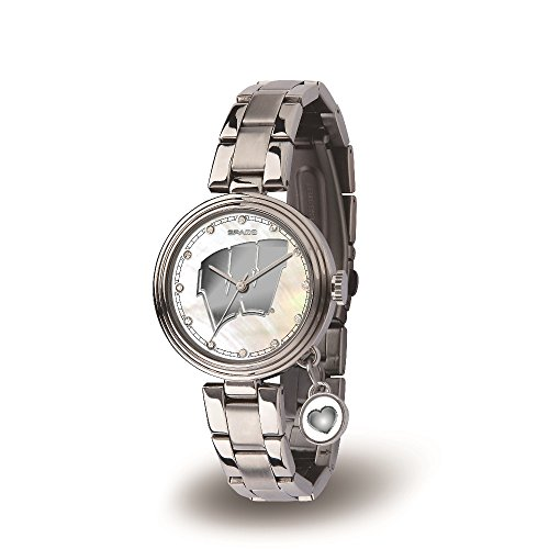 (NCAA Wisconsin Badgers Charm Watch, Silver)