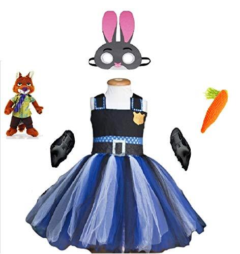 Officer J. Hops Costume Tutu Dress from Chunks of Charm (2T Dress)