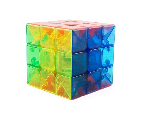3x3x3 YJ Yulong Transparent Color Stickerless Cube puzzle Moyu - 3