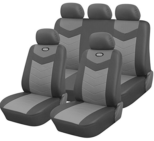 Leather Cars Seats Covers Universal Full Sets Split 40 50 60 Black Red Blue Pink Airbag Compatible Fits Easy Installation Front Rear Back Headrests Suvs Trucks Jeeps Honda Toyota Nissan (Full Car Styling)