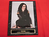 Paige WWE Engraved Collector Plaque #1 w/8x10 Photo