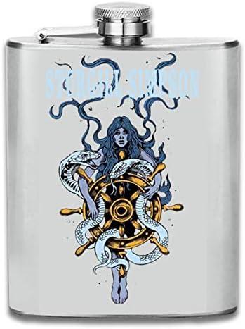 スキットル フラスコ ヒップフラスコ ワインフラスコ ウイスキーボトル 清酒ボトル スタージル シンプソン ステンレス製 錆びない 7OZ 超軽便利 携帯用 高級感 おしゃれ