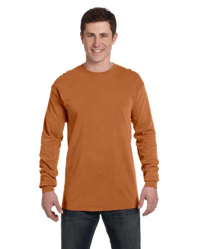 Comfort Colors Mens Ringspun Garment-Dyed Long-Sleeve T-Shirt(C6014) Emerald Pgmdye MaJRGX9keJ