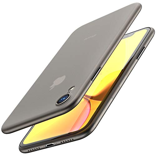 TOZO for iPhone XR Case 6.1 Inch (2018) Ultra-Thin Hard Cover Slim Fit [0.35mm] World's Thinnest Protect Bumper for iPhone XR [ Semi-Transparent ] Lightweight [Matte Finish Black]