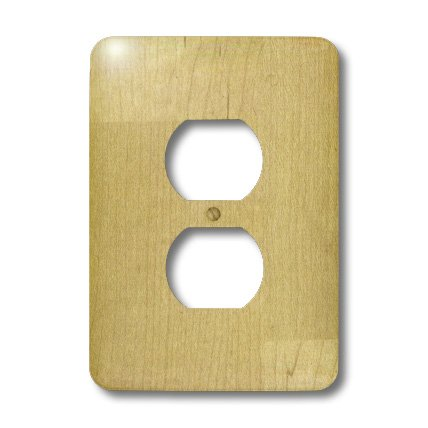 3dRose LLC lsp_41595_6 Light Maple Wood, 2 Plug Outlet (Maple Outlet)