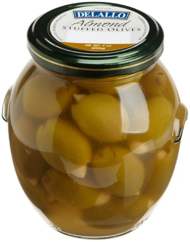 DeLallo Almond Stuffed Olives, 7-Ounce Jars (Pack of 6) Delallo Olives