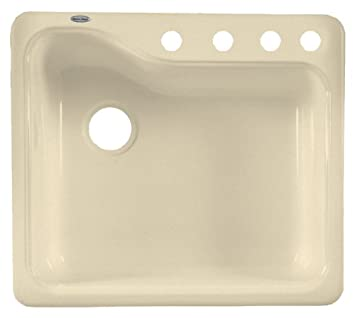 Genial American Standard 7172.804.345 Silhouette 25 Inch Americas Single Bowl  Four Hole Kitchen Sink, Bisque     Amazon.com