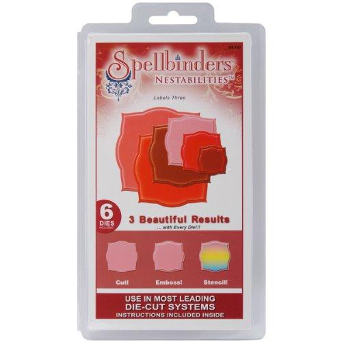 Spellbinders Nestabilities Dies, Labels 3
