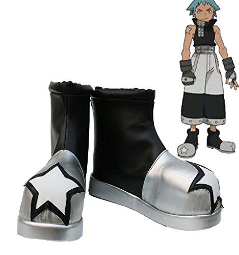 Telacos Soul Eater Black Star Cosplay Scarpe Stivali Su Misura 1