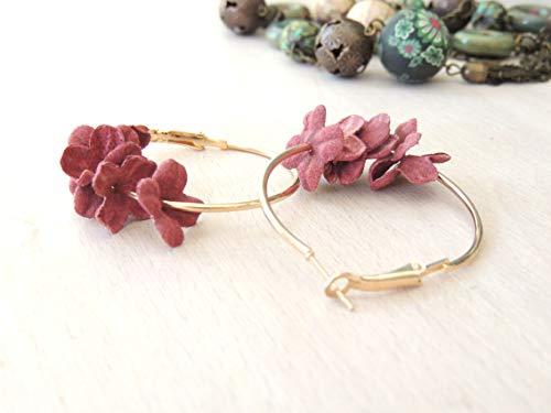 Amazing Flower Hoops Hanging Earrings Dangle Earrings for her, Handmade Earrings, Bridal Jewelry, Floral earrings, Dangle Earrings