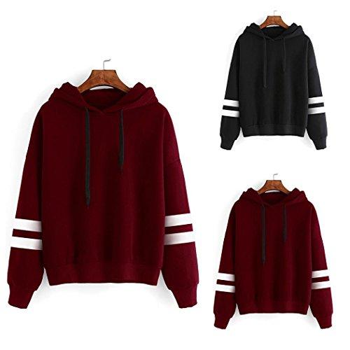 loukou Women Casual Loose Hooded Long Sleeve Solid Hoodies Sweatshirt Fashion Hoodies