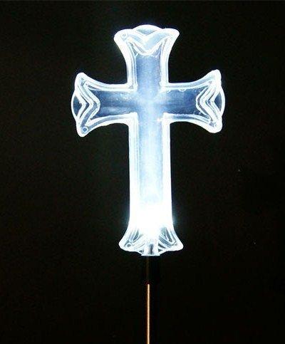 Christmas Cross Light Outdoors