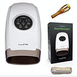 Lunix Cordless Electric Hand Massager - 6 Levels Pressure Point Therapy Massager for Arthritis, Pain Relief, Carpal Tunnel and Finger Numbness - Shiatsu Massage Machine with Compression and Heat