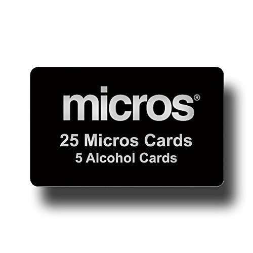 25 Black Micros Server Swipe Cards + 5 Pre-Saturated 100% Alcohol Credit Card Swipe Reader Cleaning Cards - AMAZON PRIME SHIPPING