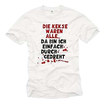 Amazon.com: MAKAYA Funny Men's T-Shirt with German Sayings