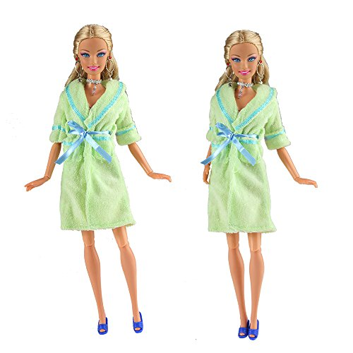 Barwa 1 Green Pajamas Sleep Suit Sleepwear Clothes for Barbie Doll