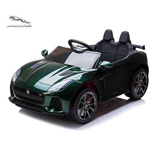Alison RideOnCar,JaguarF-TypeSVRConvertibleElectricCar,2.4GRemoteControl,MP3MusicPlaying,FrontandRearLights,MaxLoad66LB (Painted Green)