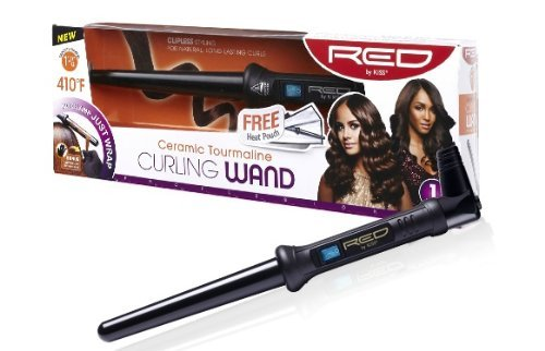 RED BY KISS Ceramic Tourmaline Curling Wand 1 1/2