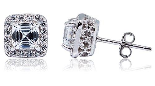 Mia-Sarine-Rhodium-Plated-Silver-Cubic-Zirconia-Asscher-Cut-Basket-Womens-Stud-Earrings