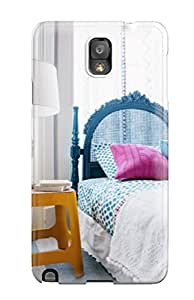 Galaxy Note 3 Case Cover Slim Fit Tpu Protector Shock Absorbent Case Turquoise Headboard With Orange Side Table