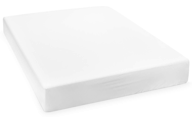 HOMFA Coprimaterasso Impermeabile Copriletto, Copri Materasso con Trattamento, Traspirante, Anallergico, Bianco, 180 x 200cm (OEKO-TEX Standerd) Prezzi offerte
