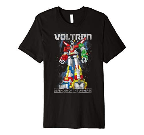 Voltron Retro Defender Space Distressed Premium T-Shirt