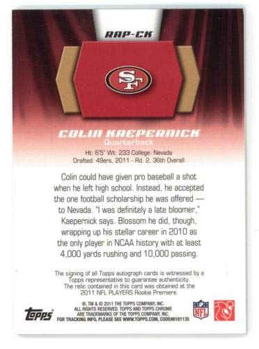 Buy colin kaepernick topps chrome auto