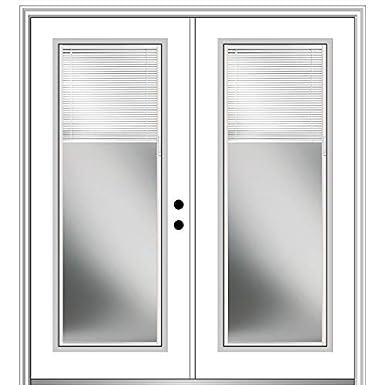 32x80 Exterior Prehung Door Left Hand in-Swing Heirloom Master Full Lite Brilliant White National Door Company ZZ04151L Fiberglass Smooth
