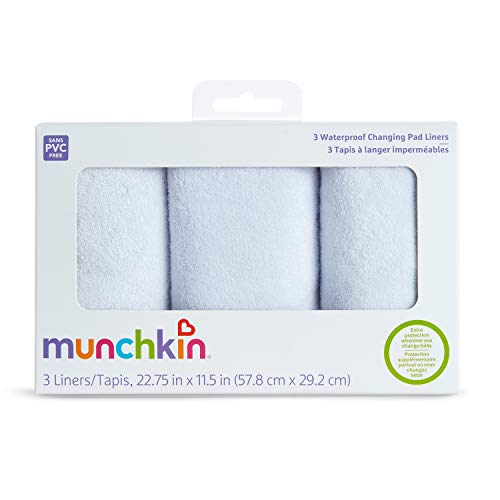 412UFGuLesL - Munchkin Waterproof Changing Pad Liners, 3 Count