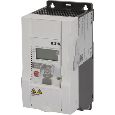 Eaton MMX11AA2D4N0-0 Adjustable Frequency AC Drives, 120VAC Supply Voltage, 1/2HP Power Rating, 2.4A Input Current