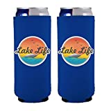 Lake Life Slim Can Coolie (2 Pack, Royal Blue)